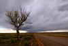 A small thuderstorm moves over the rural land in El Paso County near the Palmer Divide