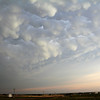 8:12 pm   6 mi NW of Arapaho, OK<br /> <br /> Above and behind us to the east was a spectacular mammatus display.