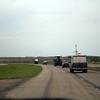 Passing the VORTEX2 crew in North Dakota.