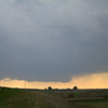 Wall cloud begins to form on the right edge, its time to get closer.