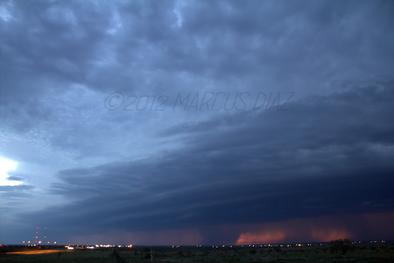 8:30 pm<br /> <br /> Sitting on the north side of Amarillo looking due west.