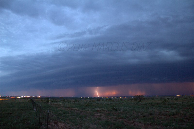 8:31 pm<br /> <br /> The lightning was plenty, but due to ambient lighting and the sunset, it was difficult to get any shots.