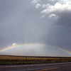 Beautiful full rainbow just east of Silverton looking into the hailcore.