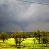 (Blurry) shot of the tornado north of Prague, OK.