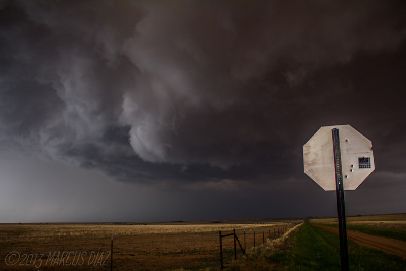 Now in rural NE Curry County, NM where the storm tried once again.