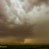 Wide shot of our supercell. Rather large funnel almost fully condensed. I believe this was reported as a tornado.