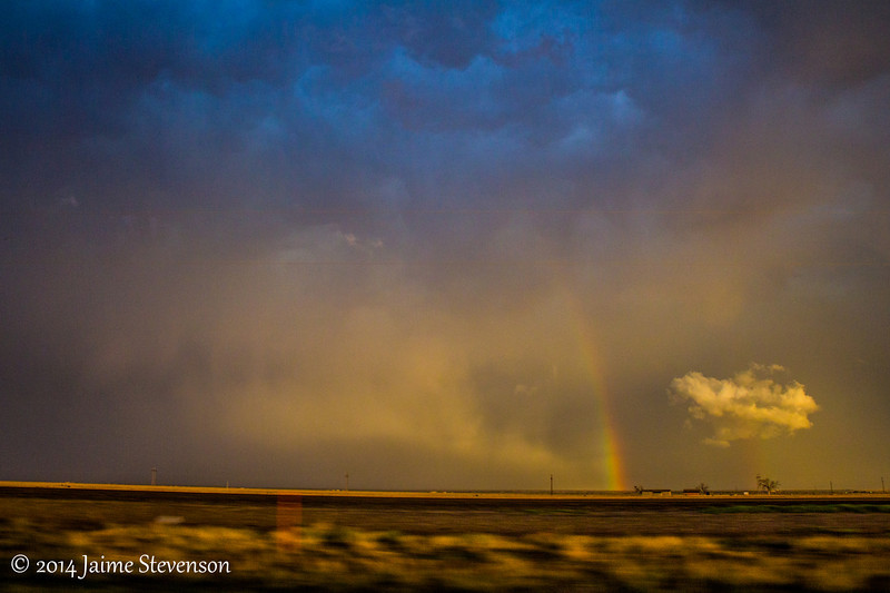 Sun began to set, which illuminated the back of the storms to our south.