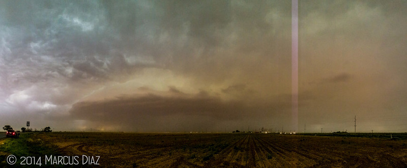 Panoramic shot that was ruined by lightning.