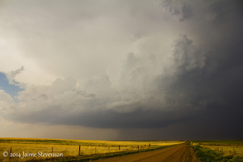 Same storm, matured into a low precip supercell in northern Beaver County, OK.