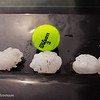 Tennis ball sized hail found north of Englewood, KS.
