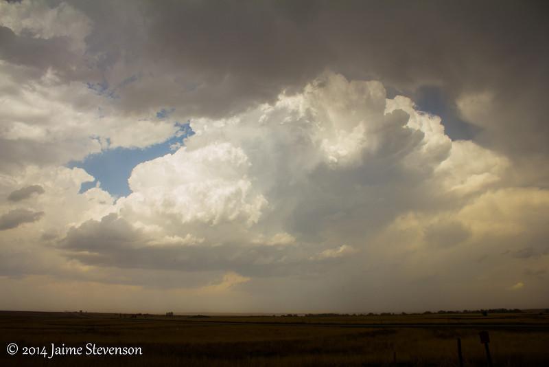 Storms erupting near Perryton, TX.