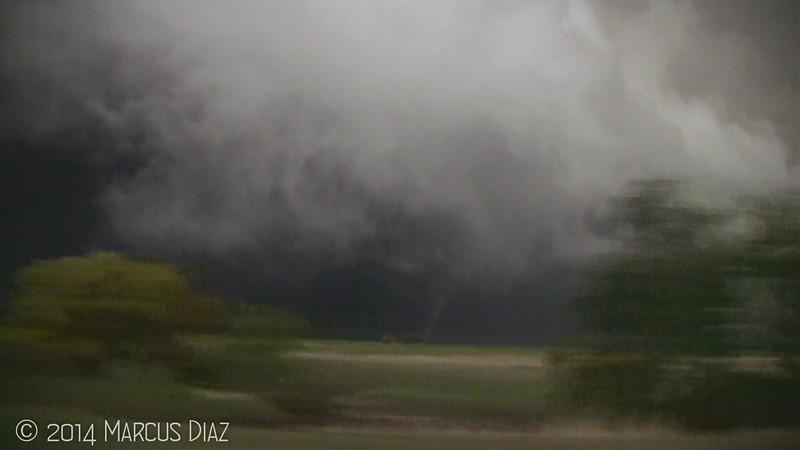 A brief tornado northeast of Kinsley.