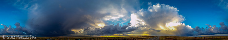 360° panoramic of the storm that was illuminated to our north, and a new storm developing to our south.