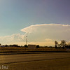 Healthy anvil and healthy updrafts along the flanking line.