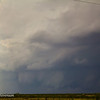 Wall cloud becoming very pronounced and larger.