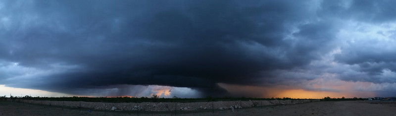 Panoramic of the same storm as it began to gust out. Great colors in there.