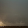 Wall cloud of our tornado warned, west of Lamesa, TX.