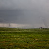 Two tornados on the ground south of Simla