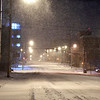 As the snow kept falling and Madison County under a travel advisory warning, streets through downtown Anderson were deserted of traffic Monday evening. The forecast is calling for 6 to 10 inches of snow, with blowing and drifting, throughout the county overnight before tapering off Tuesday morning.
