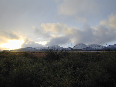Snow on Mustang Mts.