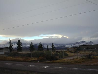 Snow on Whetstone Mts.