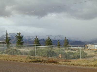 Light snow on Whetstone Mts.