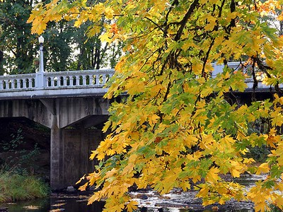 Bridge Over Creek in Downtown Vernonia, OR