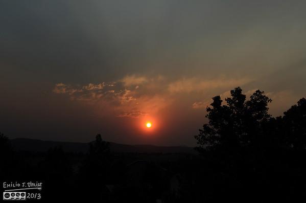 Black Forest Fire Sunset - June 2013