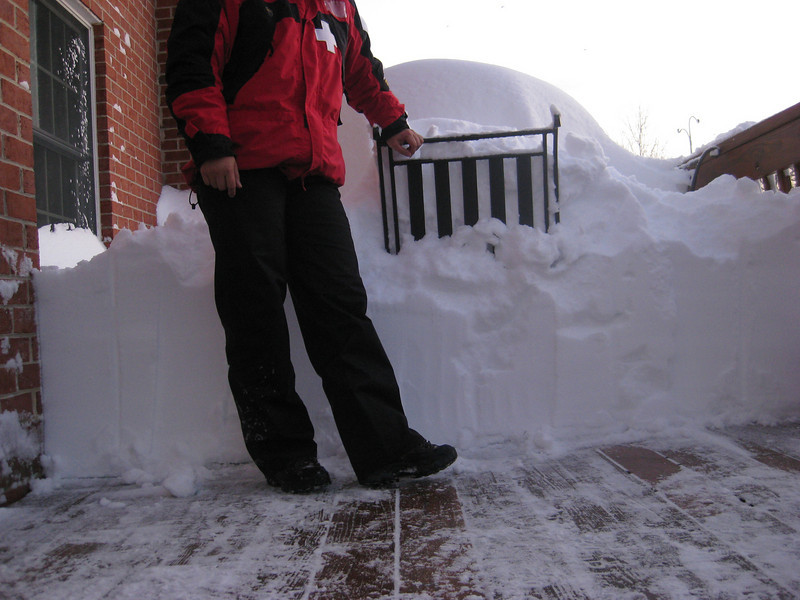 Yup, the snow was up to my hip!!