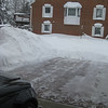 This was taken after my 6th time shoveling for the day.. the pile of snow on the left is about 7 feet high