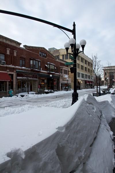 Snow drift on Marion Street.