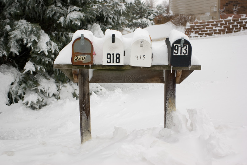 The mail was delayed until the next day.  There were no tow trucks available to rescue the mail delivery vehicles.