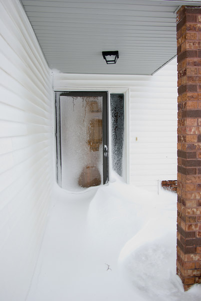 I came home to a drift at my front door.