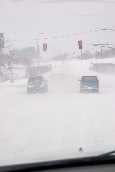 The traffic was light on the drive home.  Visibility was low when the wind picked up.