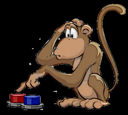 monkey button push