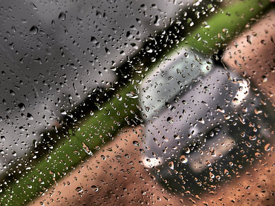 Rain with art filter