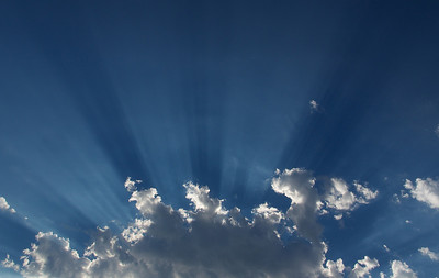 Clouds with sun rays