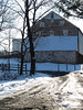 Beautiful fieldstone barn on Snowy Day - Springfield Township, PA