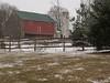 Fieldstone barn on Snowy Day - Milford Township, PA