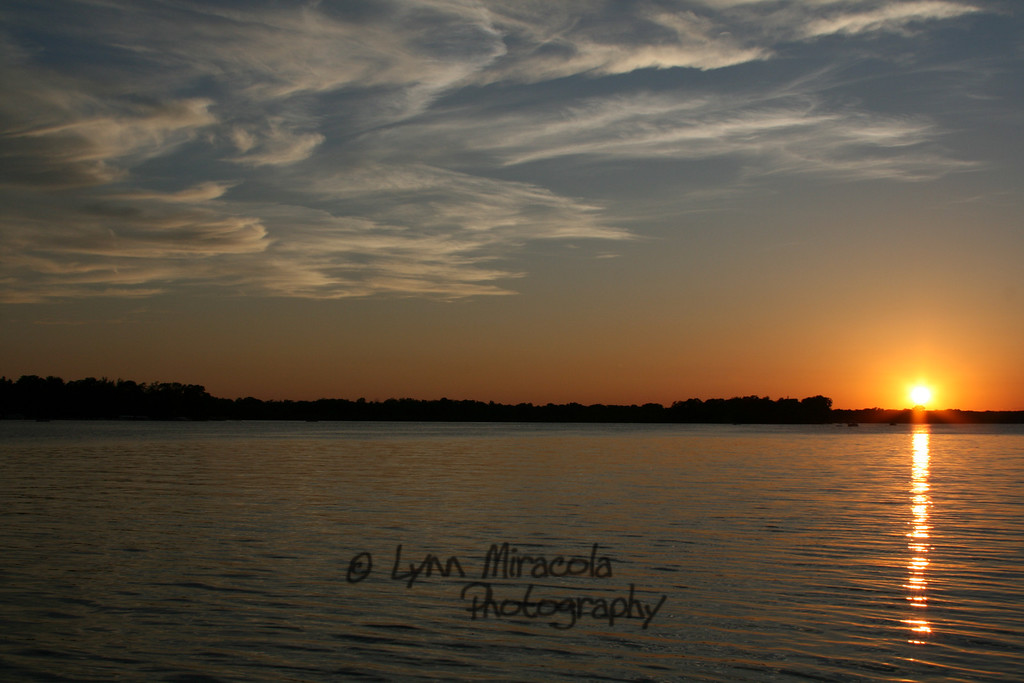 Sunset on the lake 6/20/10
