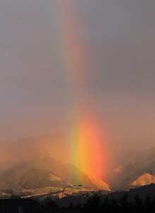 Rainbow, Upper Hutt, 3 April 2012.