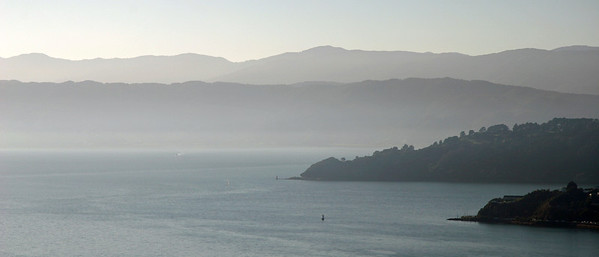 Hazy day over Wellington Harbour.  12 April 2011.