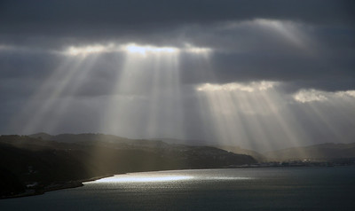 Sunbeams over Hutt Valley - 2 July 2011