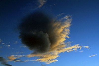Cloud at sunset over Lower Hutt, 01 March 2011.