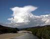 Developing cumulonimbus cloud over the Tararua ranges, 4pm 28 January 2010.
