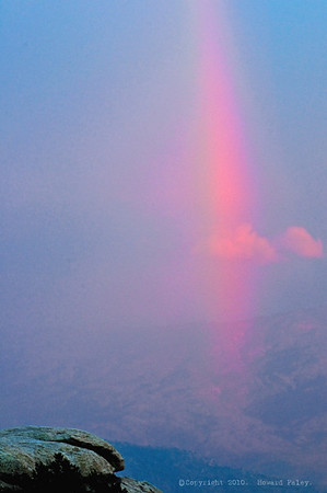 """Rainbow at Sunset"", Mt. Lemmon, Az., 07/30/10"