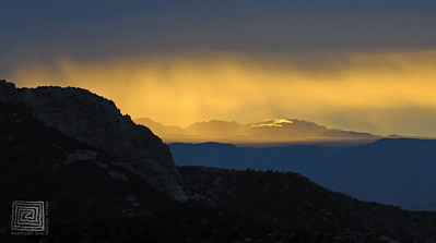 """Aurora Sunrise"", Geology Vista, Mt. Lemmon, Arizona, 10/05/10"