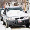 Cars on Fulton Street in Fitchburg had some snow on them from Thursday mornings dusting as the temperature fell again in the north central region. SENTINEL & ENTERPRISE/JOHN LOVE