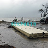 AFTER THE STORM - Tuesday 10/30/2012  The wind and rain are gone . . . and so are parts of the Somers Point Kennedy Park  boat ramp.