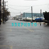Mid tide Monday morning along  flooded Bay Avenue (toward Maryland Ave.)  with the storm still 10 hours out to sea before land fall.